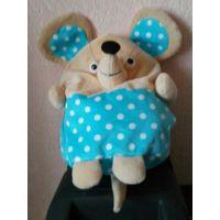 Мягкая игрушка мышь мышка мышонок с карманом на молнии