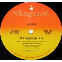 """12"""" Alisha - Too Turned On (1985) Freestyle, Electro"""