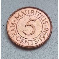 Маврикий 5 центов, 1996 7-1-5