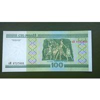100 рублей  серия аМ UNC.