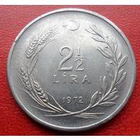 2 1/2 лиры 1972 года Турция  - из коллекции