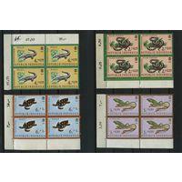 Индонезия 1966г. рептилии, 16м кварт-блоки
