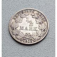 "Германия 1/2 марки, 1905 ""A"" - Берлин  7-10-5"