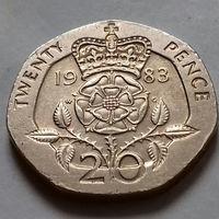 20 пенсов, Великобритания 1983 г.