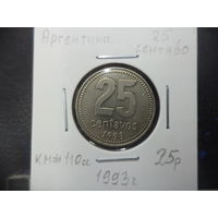 25 сентаво Аргентины 1993 года. 2