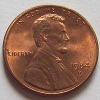 1 цент 1984 D США