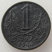 Богемия и Моравия (немецкий протекторат), 1 крона 1944 года, цинк, KM#4