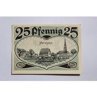 ГЕРМАНИЯ, 25 Пфеннигов 1921 г.  -HERZLAKE-