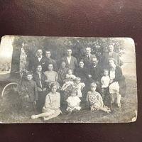 Фото.семья дети велосипед.1920-годы.
