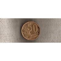 ЮАР 50 центов 2008/флора/новый герб(Ab)