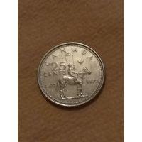 Канада 25 центов 1973 100 лет конной полиции