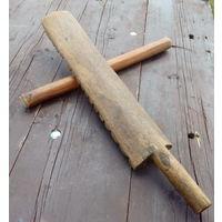 Доска рубель (ребрак, качулка рубчатая). Инструмент для стирки или глажки белья. 19 - начало 20-го века.