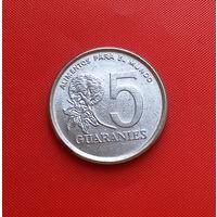 26-32 Парагвай, 5 гуарани 1980 г. Единственное предложение монеты данного типа на АУ