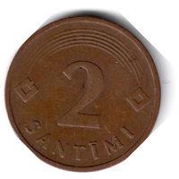 Латвия. 2 сантима. 1992 г.