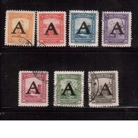 "Колумбия-1950  (Мих.566-) ,  гаш.  , 7 марок,  Надп. ""А"""