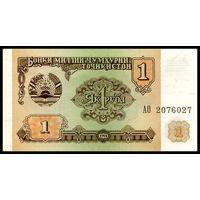 Таджикистан 1 рубль 1994 год. UNC
