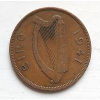 Ирландия 1 пенни, 1941 4-3-7