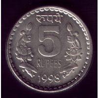 5 Рупий 1998 год Индия