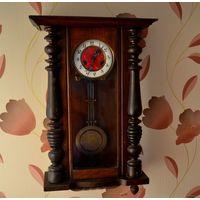Старинные настенные часы Густав Беккер.Германия.Механизм целый.Требуется настройка.