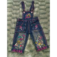 Комбинезон джинсовый на 1-2 года