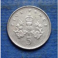 Великобритания 5 пенсов 2001