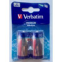 Батарейки C ((цена за 2 штуки)) Verbatim Alkaline, алкалиновые. 1.5V. R14/LR14