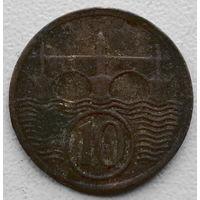Чехословакия 10 геллер 1928 2