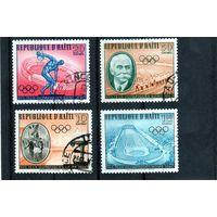 Гаити. Олимпийские игры. Рим. 1960. Пьер де Кубертен.Ми-630,631,632,633