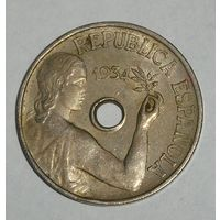 Испания 25 Сентимос 1934 (99)