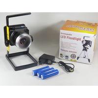 Прожектор светодиодный аккумуляторный 30W + ZOOM