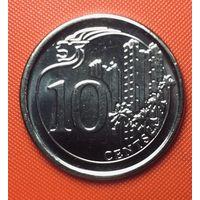 30-11 Сингапур, 10 центов 2013 г.