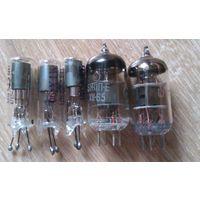 Радиолампы 6Ж1П-ЕВ 1970 и 6Ж1П-Е 1965 и МТХ-90 СССР цена за 5 лампы  1979 года