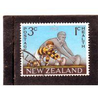 Новая Зеландия.  Mi:NZ 476. Регби. Удар по мячу. Медицинские марки.1967.