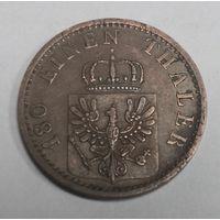 Пруссия (Германия) 2 пфеннига 1868 (1/180 талера) B..