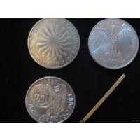 10 марок, ФРГ 1972-1997 серебро; в ассортименте более 300 шт; цена за 1 шт