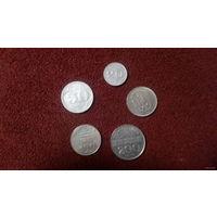 Монголия НАБОР 5 монет 20, 50, 100, 200 тугриков 1994