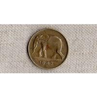 Конго Бельгийское 5 франков 1947 /фауна/(JL)