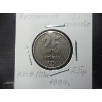 25 сентаво Аргентины 1994 года. 1