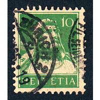 42: Швейцария, почтовая марка, 1914 год, номинал 10с, SG#280