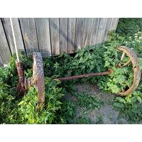 Ось железная для деревянных колес.