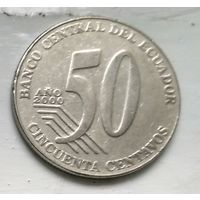 Эквадор 50 сентаво, 2000 3-6-10
