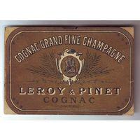 Этикетка коньяка LEROY & PINET