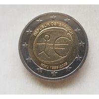 2 евро 2009 Австрия 10 лет монетарной политики ЕС