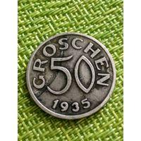Австрия 50 грошей 1935 г