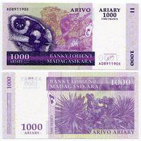 Мадагаскар. 1000 ариари (образца 2004 года, P89a, UNC)