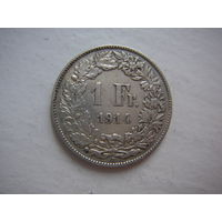 Швейцария. 1 франк 1914  Серебро- старый год.