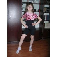 Купальник для занятий хореографией, 8-10 лет
