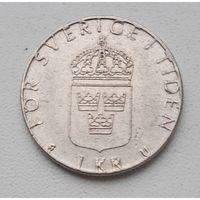 "Швеция 1 крона 1979 ""U""_ KM#852 (1976–1981 г.)"
