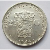 Кюрасао, 2 1\2 гульдена, 1944, серебро