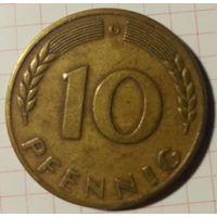 ФРГ 10 пфеннигов 1950 G